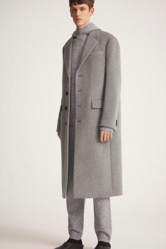 szary płaszcz na jesień męski